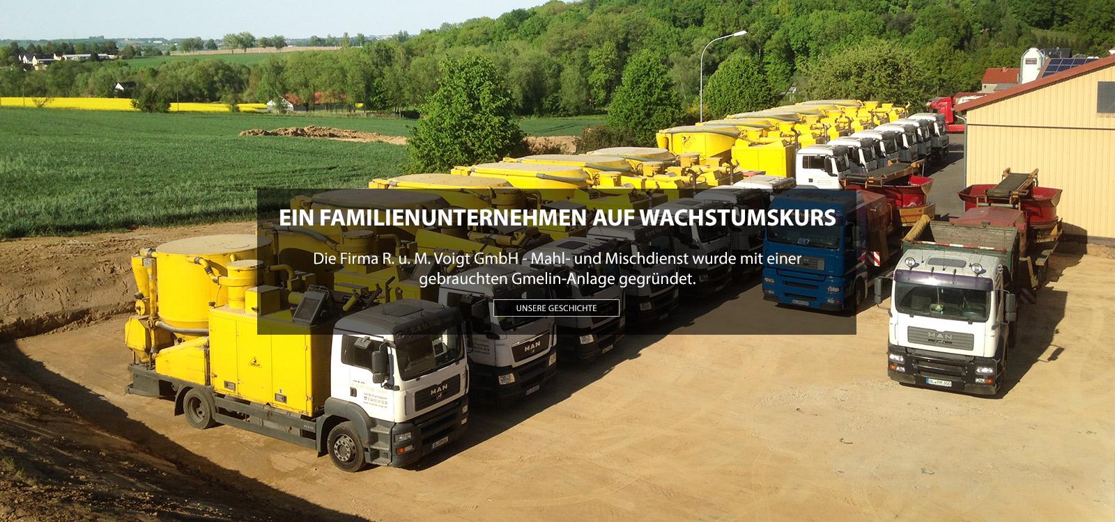 Mahl- und Mischdienst R. & M. Voigt, Geschichte