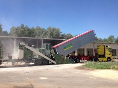 Mahl- und Mischdienst R. & M. Voigt, Getreide mahlen für einen Schweine Mastanlage